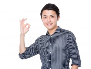 Businessman with ok sign