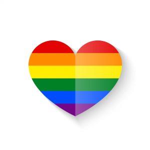 Rainbow Heart icon vector illustration